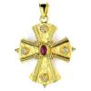 Βυζαντινός Σταυρός Κ18 με πολύτιμες πέτρες ST39BR