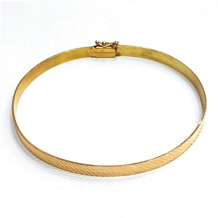 Βραχιόλι χρυσό χειροπεδα βέργα λοξές γραμμές  b4c63f947d0