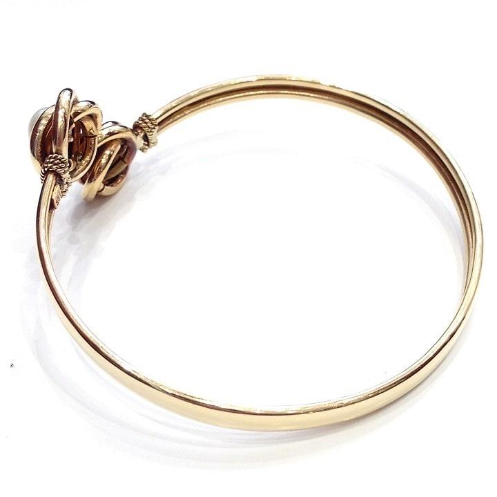 Previous. Βραχιόλι χρυσό χειροπεδα βέργα με μαργαριτάρια 96461f789a9