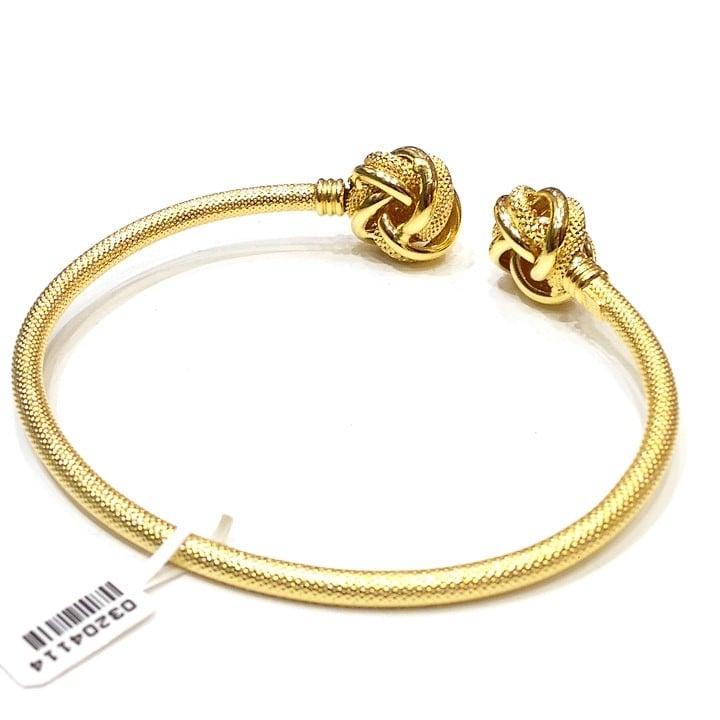 Βραχιόλι χρυσό χειροπεδα βέργα με κόμπους  cd0960e83f6