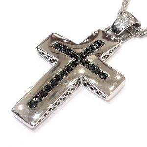 Γυναικείος σταυρός λευκός δύο όψεων